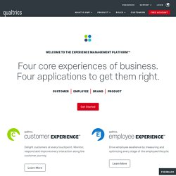 Survey Software, Enterprise Feedback Management, Voice of the Cu