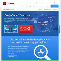 Guard® Security + Compliance Suite - Qualys, Inc.