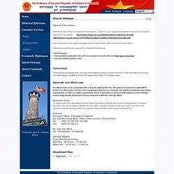 Đại sứ quán Việt Nam tại Vương quốc Campuchia - Visa to Vietnam