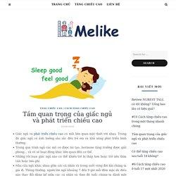 Tầm quan trọng của giấc ngủ và phát triển chiều cao