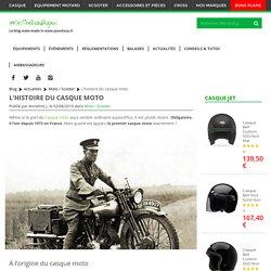 Quand est apparu le premier casque moto ?