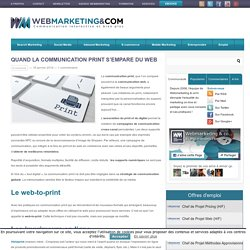 Quand la communication print s'empare du web