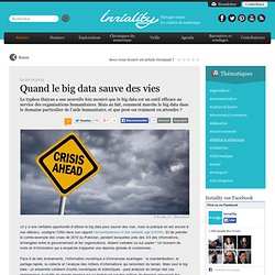 Quand le big data sauve des vies