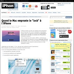 "Quand le Mac emprunte le ""lock"" à l'iPhone - iPhone 4, iPad 2, iPod Touch : le blog iPhon.fr"