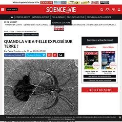 Quand la vie a-t-elle explosé sur Terre ? - Science-et-vie.com
