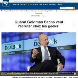Quand Goldman Sachs veut recruter chez les geeks!
