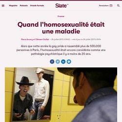 Quand l'homosexualité était une maladie