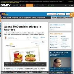 Quand McDonald's critique le fast-food