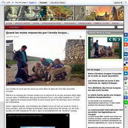 L'armée turque n'épargne ni civils ni animaux