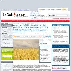 Quand les OGM font pschitt : le bilan poussif de 15 ans de cultures aux USA