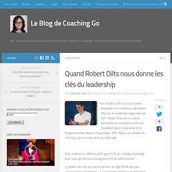 Quand Robert Dilts Nous Donne Les Clés Du Leadership