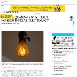 """The L.E.D. Quandary: Why There's No Such Thing as """"Built to Last"""""""