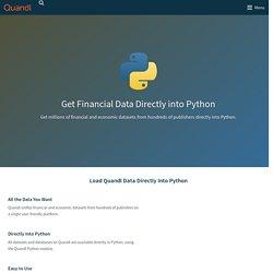 Quandl Python Module
