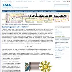 Quanta energia solare arriva sulla Terra? — it