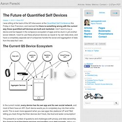 The Future of Quantified Self Devices