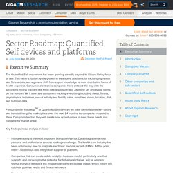 Sector Roadmap: Quantified Self devices and platforms