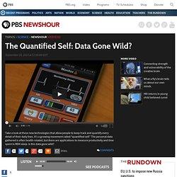 The Quantified Self: Data Gone Wild?