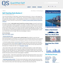 Self-Tracking Tools Review 2 | Quantified Self Guide