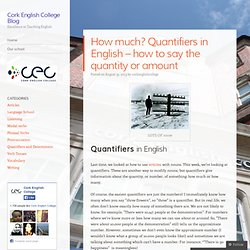 How much? Quantifiers in English – how to say the quantity or amount