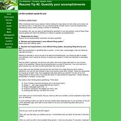 Quantify accomplishments on your resume
