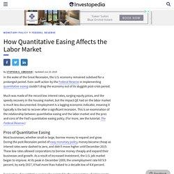 How Quantitative Easing Affects the Labor Market