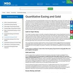 Quantitative Easing and Gold
