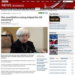 Has quantitative easing helped the US economy?
