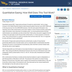 Quantitative Easing: How Well Does This Tool Work?