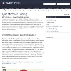 Quantitative Easing Definition