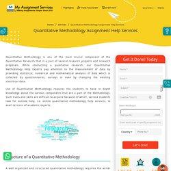 Quantitative Methodology Assignment Help Services in Australia @30% OFF