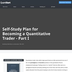 Self-Study Plan for Becoming a Quantitative Trader - Part I - QuantStart