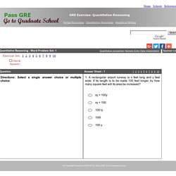 GRE Exercise: Quantitative Reasoning, Word Problem - 1