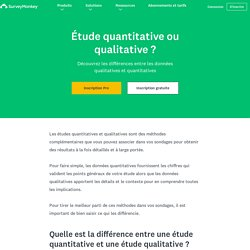 Études quantitatives ou qualitatives