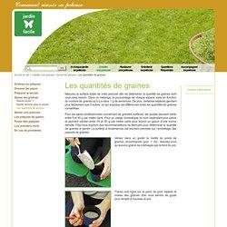 Les quantités de graines - Jardin-facile - Optimisez votre pelouse - Entretien de gazon et conseil en jardinage
