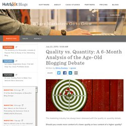 Quality vs. Quantity: A 6-Month Analysis of the Age-Old Blogging Debate