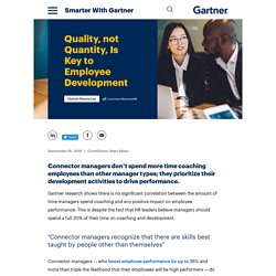 Quality, not Quantity, Is Key to Employee Development