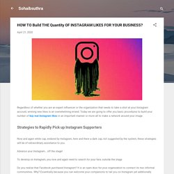 HOW TO Build THE Quantity OF INSTAGRAM LIKES FOR YOUR BUSINESS?