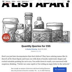 Quantity Queries for CSS