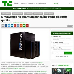 D-Wave ups its quantum annealing game to 2000 qubits