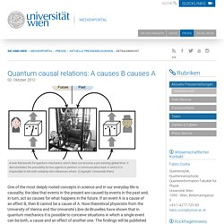 Quantum causal relations: A causes B causes A