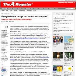 Google demos image rec 'quantum computer'