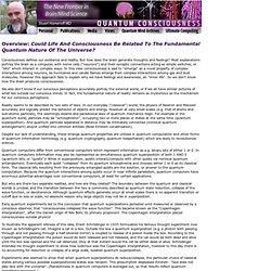 Quantum Consciousness . Stuart Hameroff