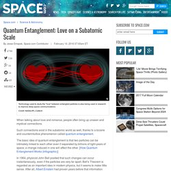Quantum Entanglement: Love on a Subatomic Scale