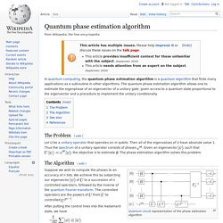 Quantum phase estimation algorithm