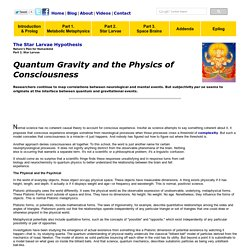 Quantum Gravity and Consciousness