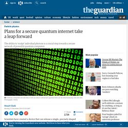 Plans for a secure quantum internet take a leap forward