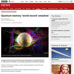 Quantum memory 'world record' smashed