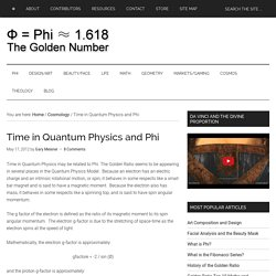Time in Quantum Physics and Phi - The Golden Ratio: Phi, 1.618