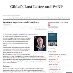 Quantum Supremacy and Complexity