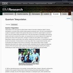 Quantum Teleportation - IBM